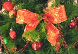 Red Bow Christmas Decorations